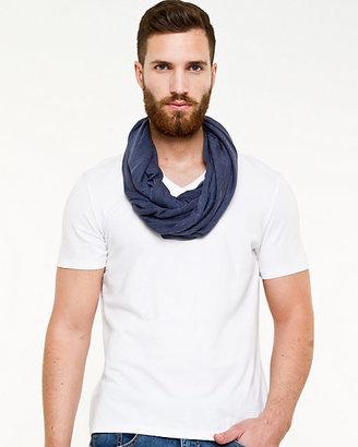Le Château Stripe Knit Infinity Scarf