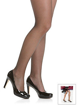 "Hanes Silk Reflections"" Silky Sheer Reinforced Toe Pantyhose with Control Top"