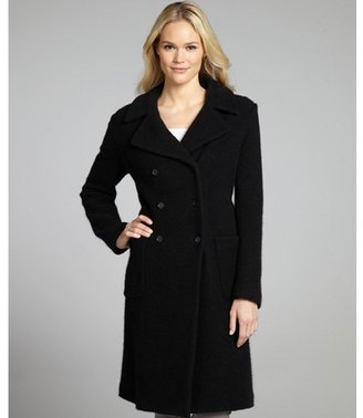 Marc by Marc Jacobs black wool and angora rabbit hair 'Lex' peacoat