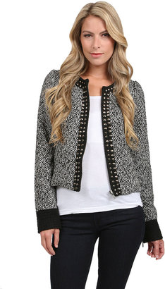 Heartloom Reese Studded Collar Jacket in Black/White