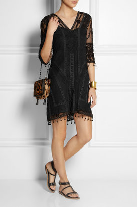 Kate Moss for Topshop Embroidered tulle and crocheted lace dress