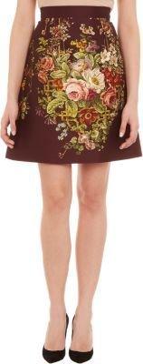Dolce & Gabbana Floral-Print A-line Skirt