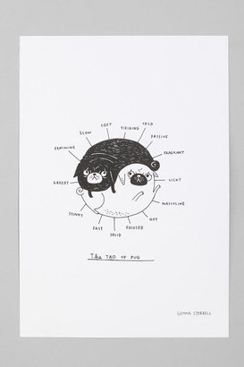 Urban Outfitters Gemma Correll For Society6 The Tao Of Pug Art Print