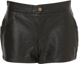 Topshop Faux Leather Hotpants