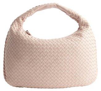 Bottega Veneta pink intrecciato leather 'Edoardo' hobo bag