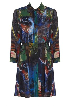 Alice + Olivia Teny Rolled Cuff Shirt Dress