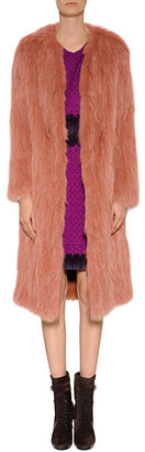 Sonia Rykiel Fox Fur Coat in Vieux Rose
