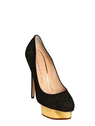 Charlotte Olympia 150mm Dolly Suede Pumps