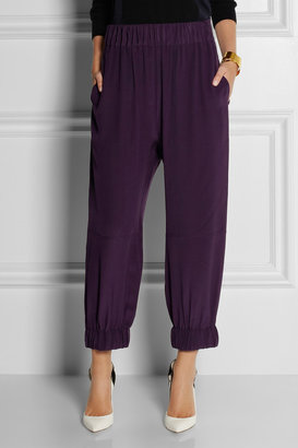Stella McCartney Silk track pants