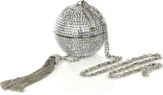 Judith Leiber Crystal-embellished sphere clutch
