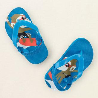 Children's Place Surf monkey flip flops