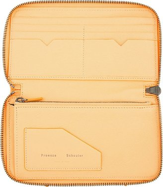 Proenza Schouler Apricot Orange Leather Lux PS1 Continental Wallet