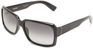 Vera Wang V212 V212 Rectangle Sunglasses,Black,59 mm