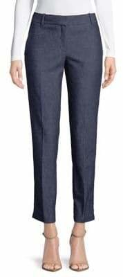Theory Straight Cropped Trousers