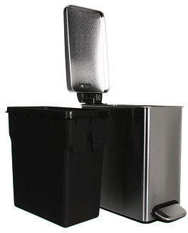 Simplehuman Profile Step Trash Can, 10 Liters/2.6 Gallons