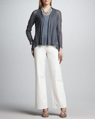 Eileen Fisher Silk-Linen Angled Cardigan