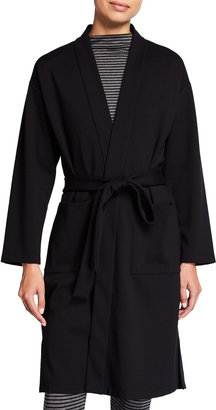 Eileen Fisher Petite Flex Ponte Belted Knee-Length Jacket