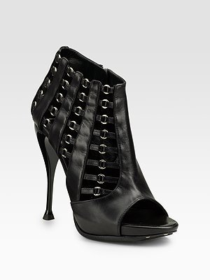 Giuseppe Zanotti Caged Open-Toe Ankle Boots