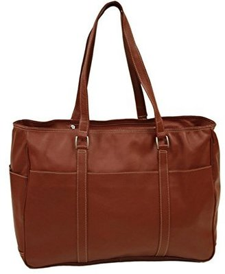 Piel Leather Large Shopping Bag, Red, One Size