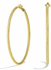 David Yurman Cable Classics Hoop Earrings in Gold