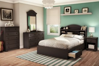 Green Baby South Shore Summer Breeze Collection Full (54'') Mates Bed - Chocolate