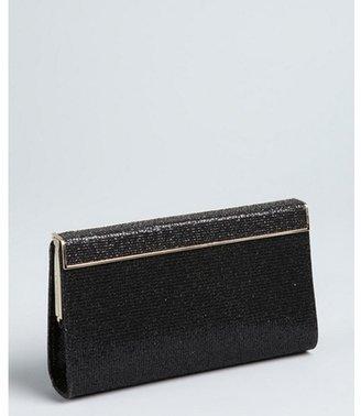 Jimmy Choo black glitter fabric 'Cayla' clutch