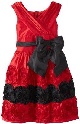 Bonnie Jean Girls 7-16 Draped Bodice Dress with Bonaz Border