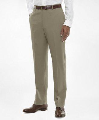 Brooks Brothers Regent Fit Flat-Front Classic Gabardine Trousers