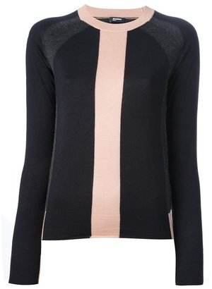 Jil Sander Navy colour block sweater