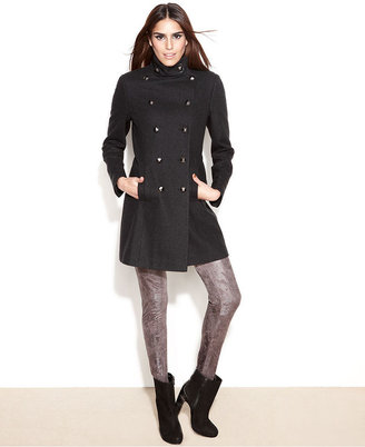 Rachel Roy Double-Breasted Wool-Blend Military Coat