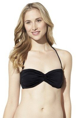 Mossimo Women's Mix and Match Twist Bandeau Swim Top -Black