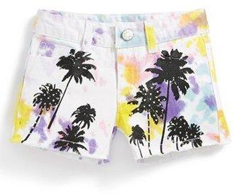 Flowers by Zoe 'Palm Tree' Tie Dye Shorts (Big Girls)