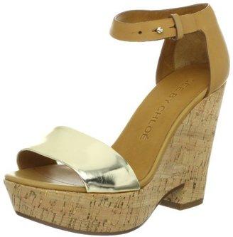 See by Chloe Women's Ankle Strap Open Toe Platform Wedge Sandal