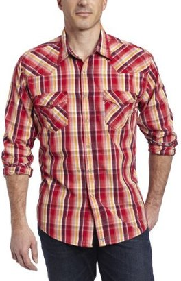 Wrangler Men's 20X Collection Western Flap Pockets Two Snap Cuffs Shirt