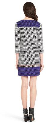 Diane von Furstenberg Ruri Printed Silk Jersey Shift Dress