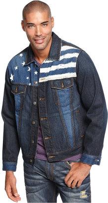 Rocawear Jacket, Jimi Hendrix Flag Denim