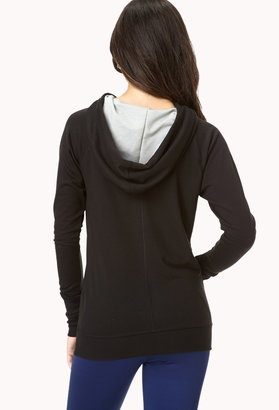 Forever 21 Contrast Workout Hoodie