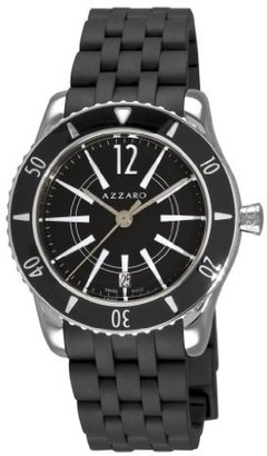 Azzaro Men's AZ2200.12BB.01B Coastline Black Dial and Rubber Strap Watch
