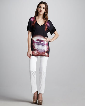 McQ by Alexander McQueen Ankle-Length Skinny Jeans, White