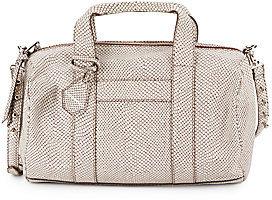 Rebecca Minkoff Ascher Snake-Embossed Leather Duffel Bag
