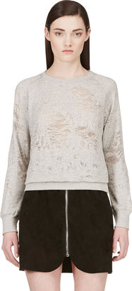 IRO Grey Shredded Sweater