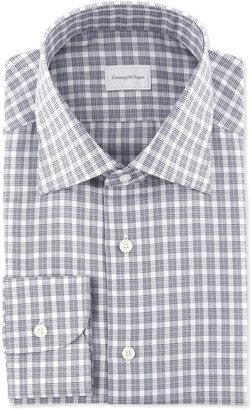 Ermenegildo Zegna Check Dress Shirt, Gray