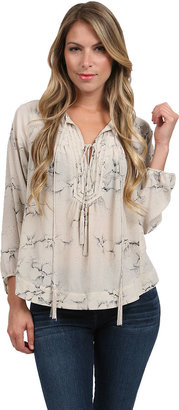 Rebecca Taylor Aristotle Blouse in Oyster