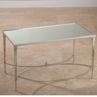 Global Views Enjoy A Drink In Style Coffee Table Color: Nickel with Mirror Top