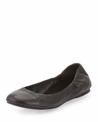 Delman Maya Cap-Toe Ballerina Flat $198 thestylecure.com