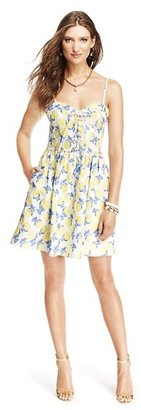 Juicy Couture Bright Rose Jacquard Bustier Dress