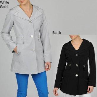 Esprit Women's Faux Silk Hooded Walker Jacket $74.99 thestylecure.com
