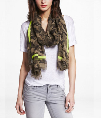 Express Neon Frame Camouflage Oblong Scarf