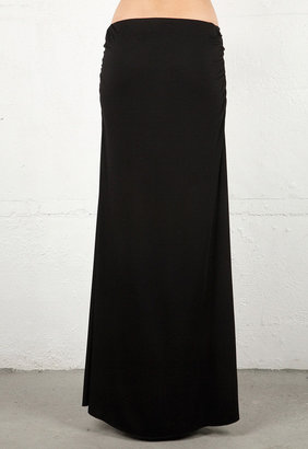 Feel The Piece Rouched Skirt in Black -
