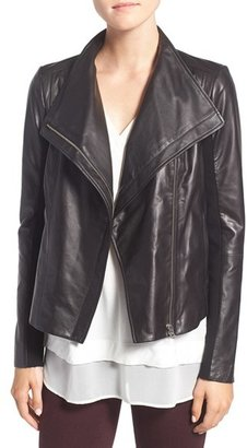 Women's Trouve Leather Moto Jacket $299 thestylecure.com